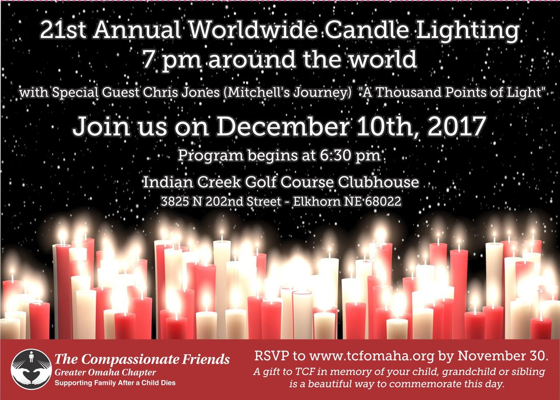 The Compassionate Friends Worldwide Candle Lighting unites family and friends around the globe in lighting candles for one hour to honor the memories of the ...  sc 1 st  The Compassionate Friends - Greater Omaha Chapter & WORLDWIDE CANDLE LIGHTING - The Compassionate FriendsGreater Omaha ...